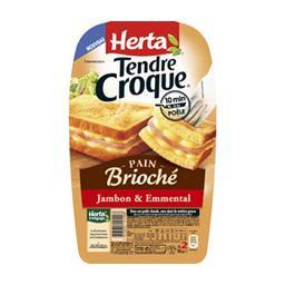 Tendre Croque - Croque-monsieur pain brioché jambon & Emmental