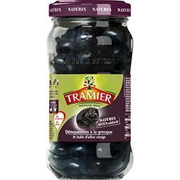 Olives noires dénoyautées à la grecque et huile d'ol...