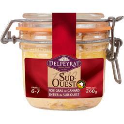 Delpeyrat Foie gras de canard entier du Sud-Ouest le bocal de 260 g