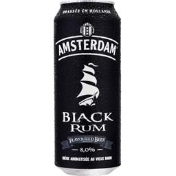 Bière aromatisée au vieux rhum