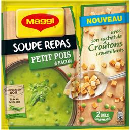 Maggi Soupe repas petit pois & bacon le sachet de 90 g