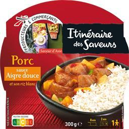 Porc sauce aigre douce et riz blanc - Saveur de Chin...