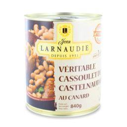 Jean Larnaudie Véritable cassoulet de Castelnaudary au canard la boite de 840 g