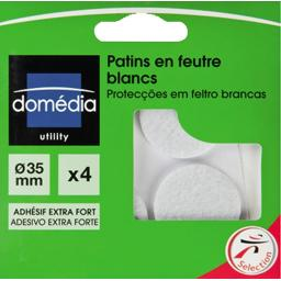 Patins en feutre blancs diamètre 35mm