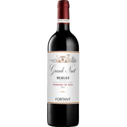 Grande Nuit Vin de pays d'Oc Merlot, vin rouge la bouteille de 75 cl