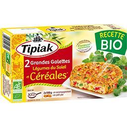 Grandes galettes légumes du soleil et céréales BIO