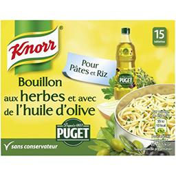 Knorr Bouillon aux herbes et huile d'olive Puget ,KNORR,x15 150g