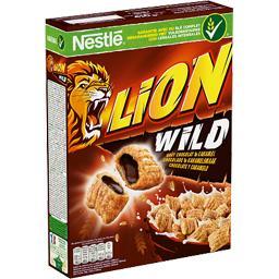 Nestlé Céréales Lion - Céréales Wild croustillantes caramel fourrées...