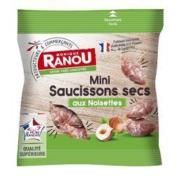 Mini saucissons secs aux noisettes