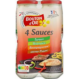 4 sauces Tartare/Béarnaise/Bourguignonne/Poivre