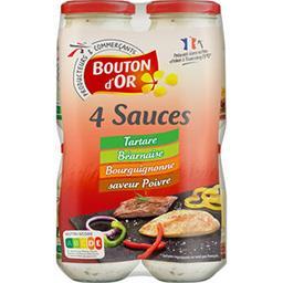 4 sauces Tartare/Béarnaise/poivre/Bourguignonne
