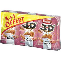 3D Bugles - Biscuits apéritif goût bacon