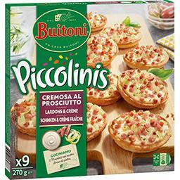 Piccolinis - Mini pizzas lardons & crème