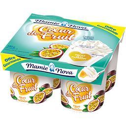 Mamie Nova Cœur de Fruit - Spécialité laitière fruit de la pass...