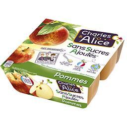 Dessert pommes sans sucres ajoutés