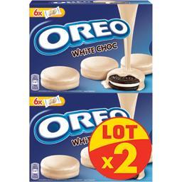 Oreo Biscuits cacaotés enrobés chocolat blanc les 2 boites de 246g