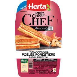 Tendre Croque - Croque-monsieur Chef poêlée forestière bacon emmental