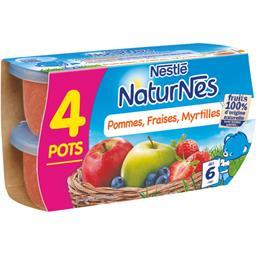 Compote pommes fraises myrtilles, dès 6 mois
