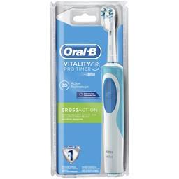 Oral-B Vitality CrossAction Minuteur Prof Brosse à Dents Électrique Rechargeable +Manche + Brossette -