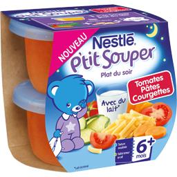 P'tit Souper - Plat du soir tomates pâtes courgettes, dès 6+ mois