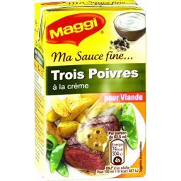 Ma Sauce Fine - Sauce 3 poivres à la crème pour vian...