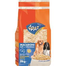 Macaroni précuits lait et vitamines pour chiens
