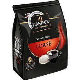 Café torréfié moulu en dosettes, dégustation corsé