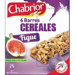 Chabrior Barre céréales figue les 6 barres de 21 g