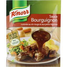 Sauce bourguignon au vin rouge et aux petits légumes