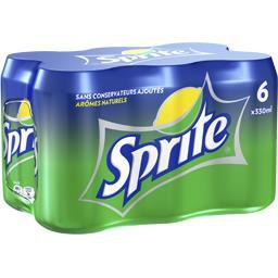 Soda, les 6 boîtes de 33cl