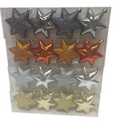 Ornements étoiles à suspendre coloris assortis