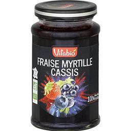 Confiture fraise myrtille cassis BIO