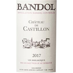 Bandol Château de Castillon (certifié AB) vin Rosé 2017