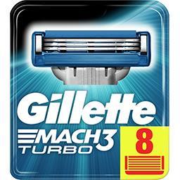 Mach3 turbo lames de rasoir pour homme 8recharges
