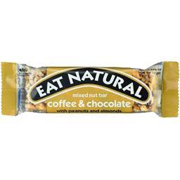 Eat Natural Barre café & chocolat avec cacahuètes et amandes la barre de 45 g