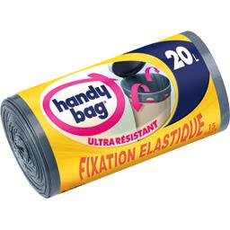Sacs poubelle fixation élastique 20 l