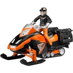 Moto neige avec conducteur et accessoires