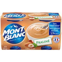 Mont Blanc Crème dessert praliné