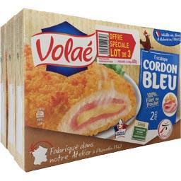 Volaé Escalope cordon bleu 100% filet de poulet le lot de 3 boites de 200 g