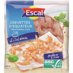 Crevettes crues décortiquées Escal