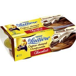 Crème dessert craquante chocolat