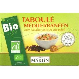 Taboulé méditerranéen aux raisins secs et au miel, BIO