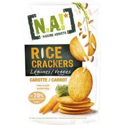 Rice Crackers - Crackers légumes carotte