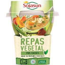 Repas végétal pois cassés