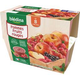 Desserts pommes fruits rouges, de 8 à 36 mois