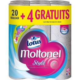 Lotus Papier toilette Style Moltonel le paquet de 20 rouleaux