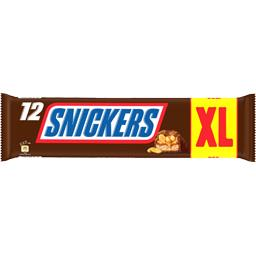 Snickers Barres chocolatées caramel cacahuètes