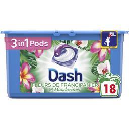 Dash 3en1 - pods - fleurs de frangipanier - lessive en ca...