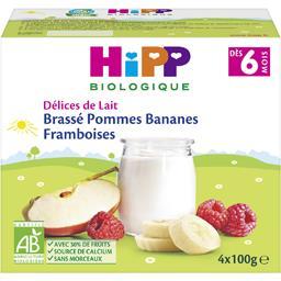 Délices de Lait - Brassé pommes bananes framboises B...