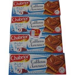 Chabrior Biscuits Tableau d'Honneur chocolat au lait le lot de 3 paquets de 150 gr